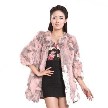 2019 New Women Warm Winter Real Natural Rabbit Fur Coat Free Shipping plus size waistcoat Free Shipping