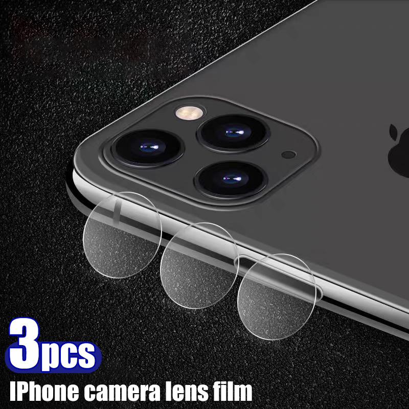 3PCS For iPhone X XR XS 11 Pro Max Camera Lens Protective Glass Back Lens For Apple iPhone 6 6s 7 8 plus Glass Screen Protector