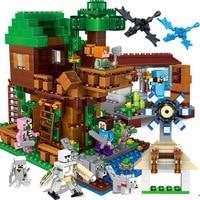 700pcs Children's building blocks toy Compatible city Legoinglys Jungle Tree House Windmill Village figures Bricks