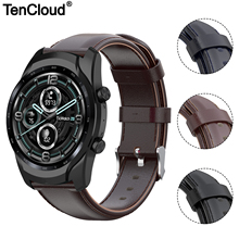 Genuine Leather Band For Ticwatch Pro 3 GPS 4G/LTE Watch Strap For Ticwatch Pro 2020/GTX/E2/S2 Replacement Bracelet High Quality