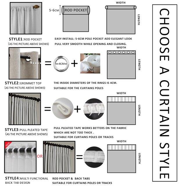 Modern Plain Curtains for Living Room 6