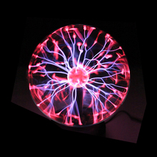 Crystal Plasma Ball Night Light Magic Glass Sphere Novelty Lightning Ball Light Table Lamp 3 Inch Bluetooth Voice Control