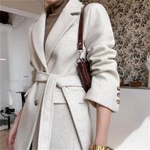 Fashion Woolen Blazers female jacket spring winter New high quality retro loose