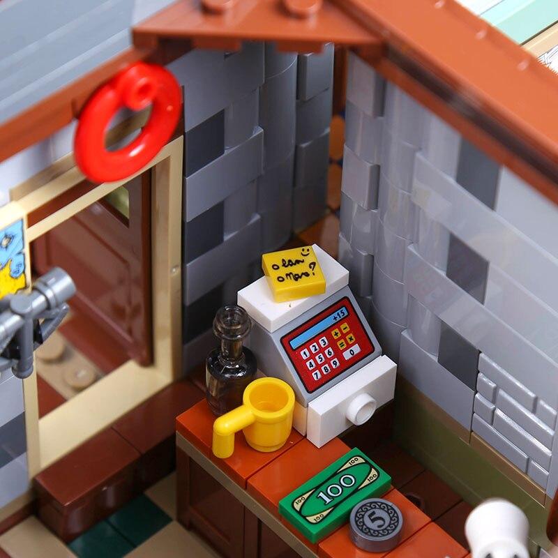 De Oude Afwerking Winkel MOC Serie 21310 Oude Vissen Winkel Set Bouwstenen Bakstenen Educatief Kinderen verjaardag speelgoed 16050 - 3