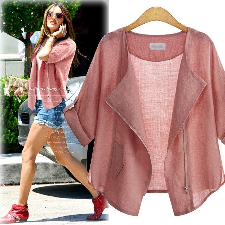 New Fashion European American Jacket Women's Long Sleeved Cotton Linen Cardigan Jacket Women Thin Coat Women's Clothing Jackets|Jackets|   - AliExpress
