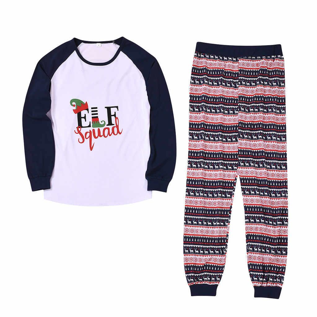 คริสต์มาสผู้หญิง Mommy พิมพ์เสื้อและกางเกงคริสต์มาสครอบครัวเสื้อผ้าชุดนอน Elegant เสื้อและกางเกงครอบครัวมีชีวิตชีวา Stet 19Nov5