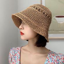 Summer Hats Cap Bucket-Hat Sunshade Straw-Sunhat Gorro Travel Beach-Fisherman Women Ladies