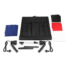 Portable 50cm Camera Photo Studio Box Soft Light Tent Kit Color Backdrops With Tripod Mobile Shot Box Set Photography Props