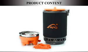 Image 5 - APG 1600ml Portable Camping gas stove cooking System Butane Propane Burners