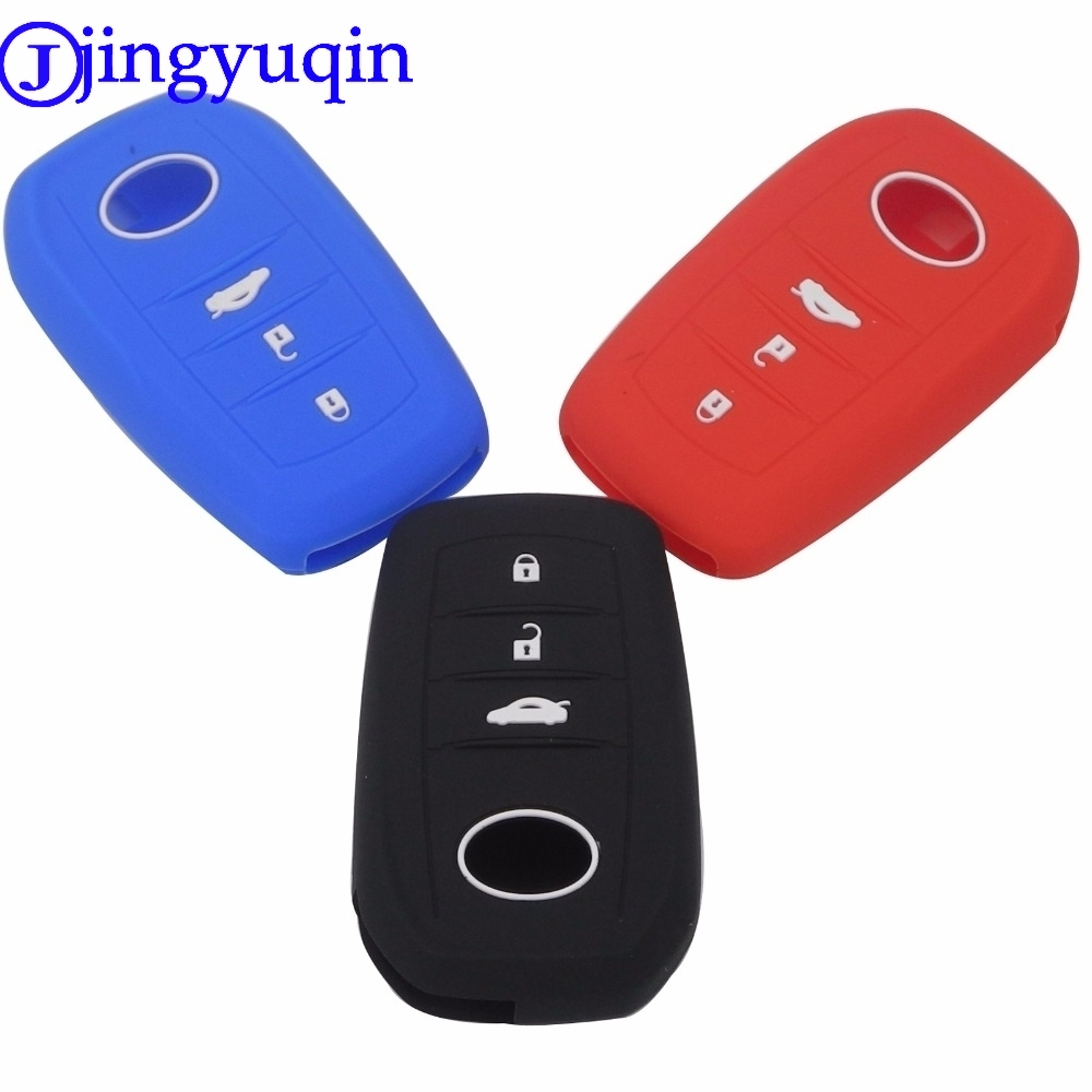 jingyuqin For <font><b>Toyota</b></font> Corolla Camry <font><b>RAV4</b></font> <font><b>2014</b></font> 2015 3 Buttons Remote Car-Styling Silicone <font><b>Key</b></font> Holder Shell <font><b>Case</b></font> Cover <font><b>Case</b></font> image