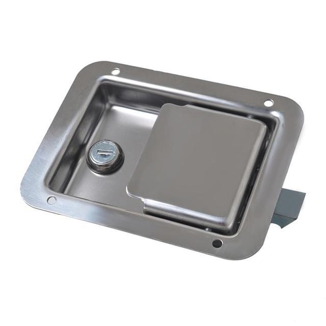 الفولاذ المقاوم للصدأ مجداف مزلاج مع مفاتيح لمقطورة صندوق أدوات الشاحنة قفل الباب اكسسوارات السيارات استبدال
