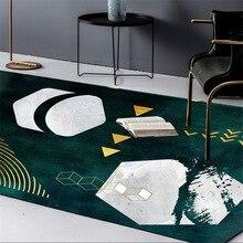 Custom made carpet modern fashion INS abstract Dark green gold geometry bedroom Office hotel Big mat living room Crystal