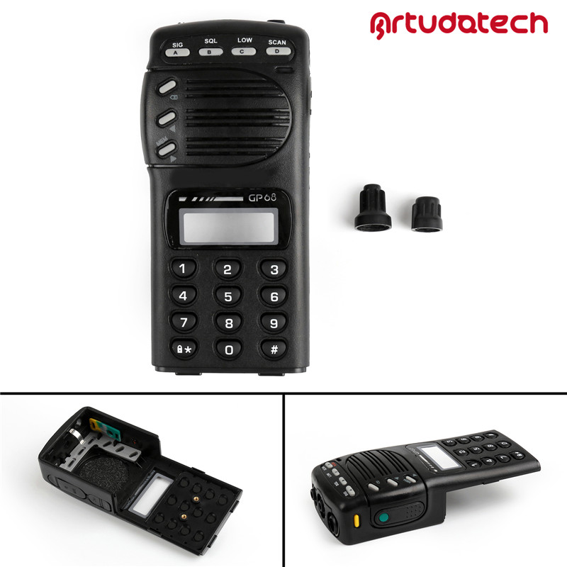 Artudatech Front Outer Case Housing Cover Shell For Motorola GP68 Wakie Talkie GP 68 Radio