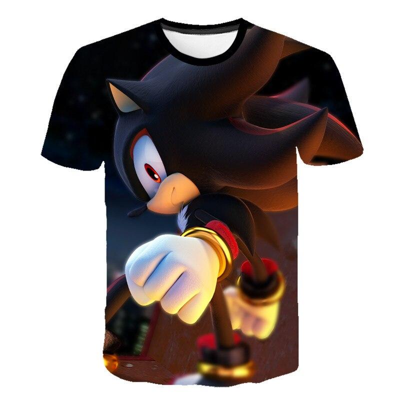 Kids Girls T Shirt Summer Baby Boys Sonic The Hedgehog Tops Toddler Tees Clothes Children Clothing T-shirts Short Sleeve Summer