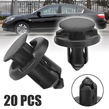 Mayitr 20pcs Black Plastic Retainer Bumper Rivet Trim Clip 8mm&10mm Auto Fastener & Clips For Honda Civic Accord