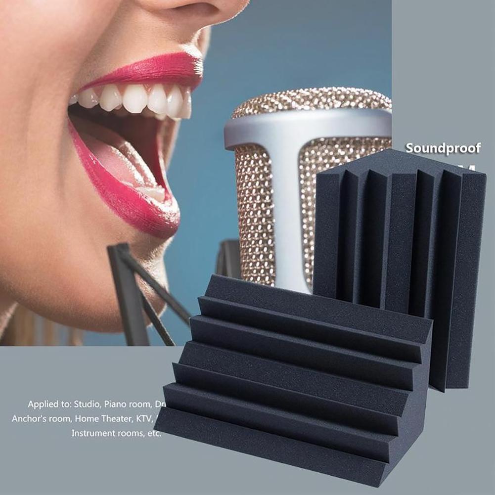 Acoustic Soundproofing Foam Charcoal Bass Trap Sound Absorption Studio Soundproofing Corner Wall Foam