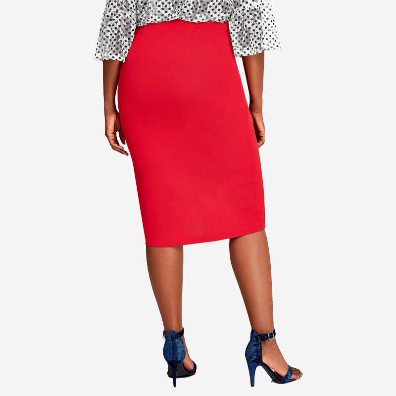 CACNCUT Big Size High Waist Bag Thigh Skirt Business Casual Skirt For Women 2019 Plus Size Bodycon Pencil Office Skirt Black 6XL 37