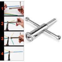 Manuelle Draht Verdrehen Werkzeug Stahl Kabel Anschluss Drähte Stripper Twister für Bohrmaschine Treiber JDH99