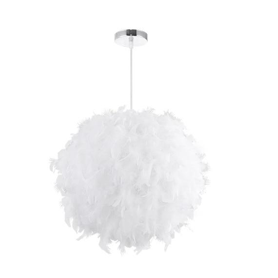 HHO ホワイト生地 Ac220V 寝室人格ファッションシンプルなバドミントン照明シャンデリアボックスパッキング - title=