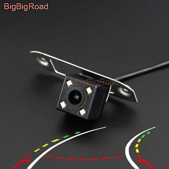 BigBigRoad Car Intelligent Dynamic Trajectory Tracks Rear View Camera For Volvo S40 S40L S60 S80 XC90 XC60 V60 S80L S60L V40 V50 ccd night vision reverse camera as gift car smart camera interface adapter for volvo s60l xc60 v60 v40 sensus multimedia system