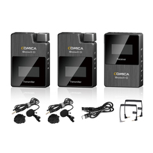 Comica boomx D2 プロミニ 2.4 グラムデジタルワイヤレスマイクモノラル/ステレオ切替出力モードのためのカメラ