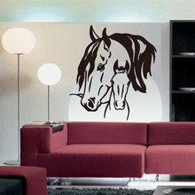 Sticker Horse and Colt Vinyl Carving Removable Wall Art Decal Wallpaper Living Room Mural Home Decoration Painting DW0764