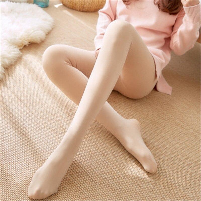 Bare Leg Artifact Female Autumn And Winter Fitness Pants Plus Velvet Thick Imitation Nylon Leggings Women Warm Pants