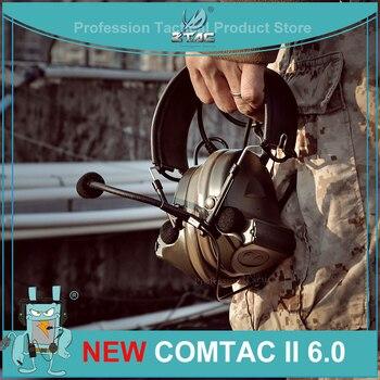 Тактическая гарнитура Peltor Comtac II, 6-я печатная плата, версия 2020, тактическая гарнитура с 2 режимами для уоки-токи, мягкие наушники Z041