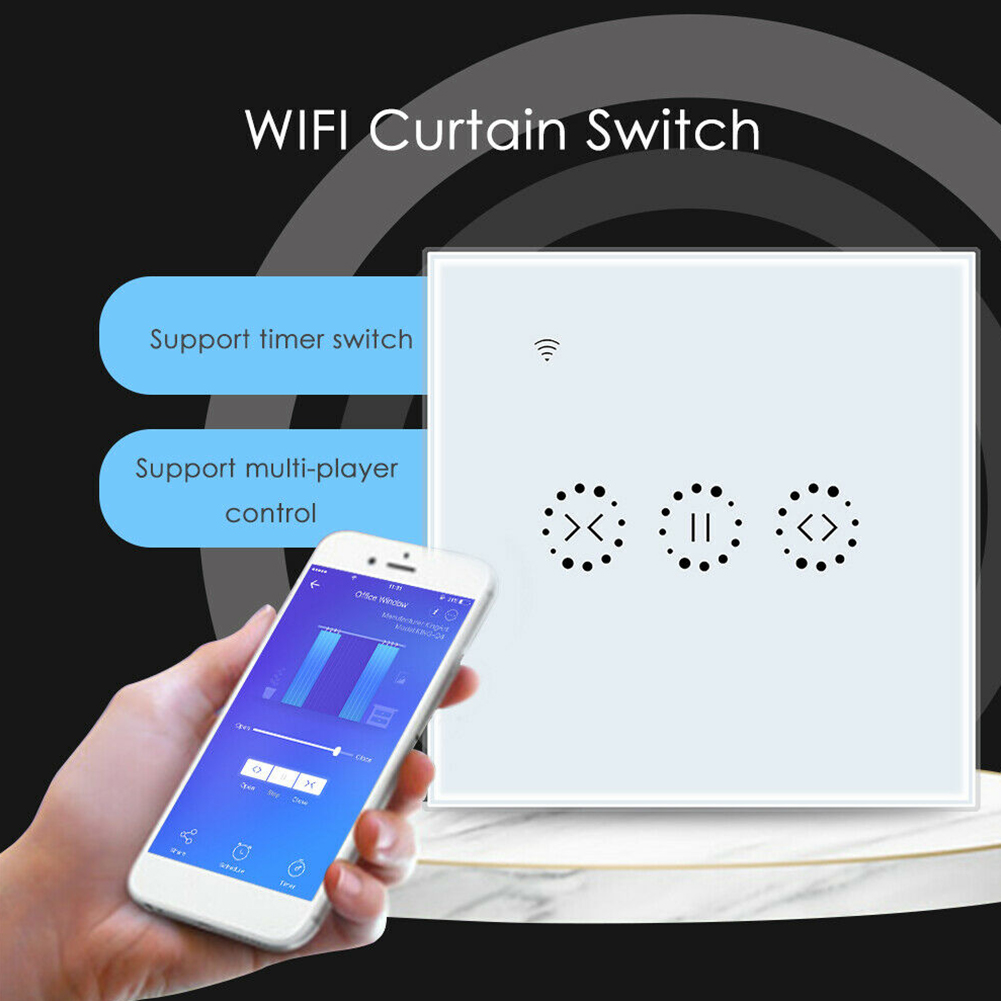 Touch WIFI RC Intelligent Curtain Switch Voice Control Window Cycle Timing ABS Plug-In Flame Resistant Roller Shutter Set Time