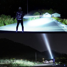 Powerful LED Flashlight XHP50 Torch USB Rechargeable Waterpr