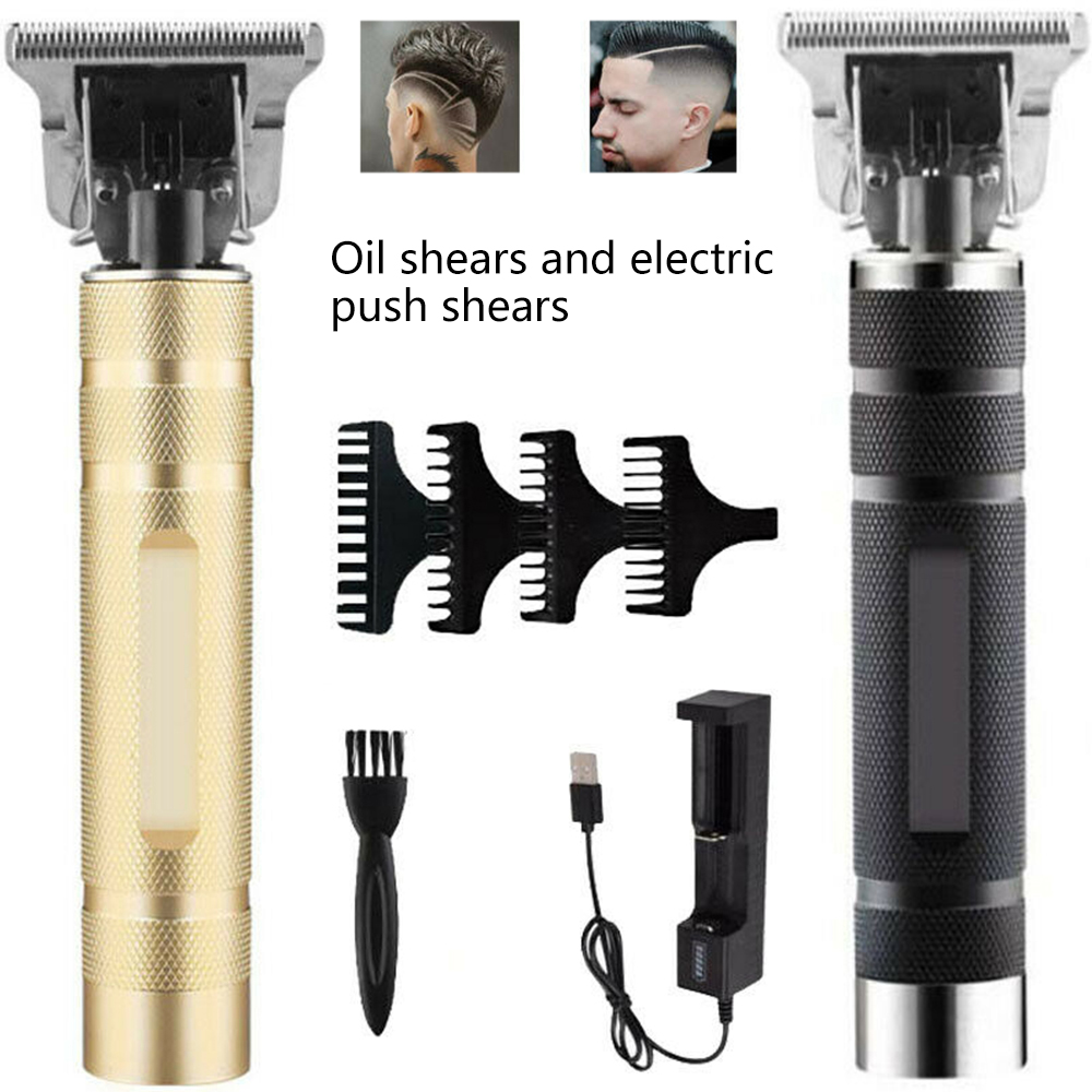 Hair-Clipper Barber Carving Cordless T-Blade Outliner Rechargeable Baldheaded Men