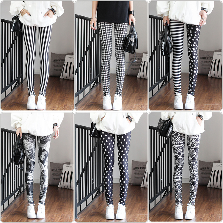 New Western Sexy Leggings  Holographic  Camouflage  Neon  Seamless Leggings Newspaper Gothic  Punk Rock  Fitness Legging