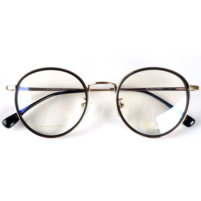 Round fashion spectacles eyeglasses frames Japan for myopia/reading|Men