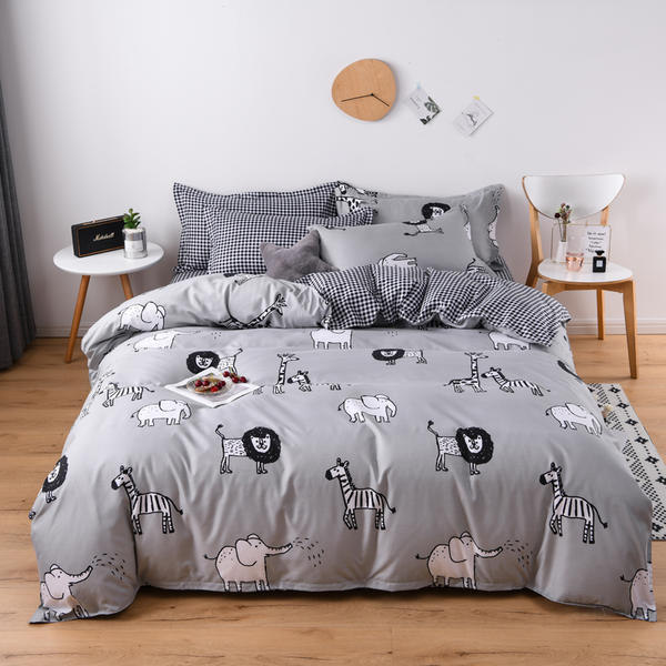Solstice Bedding Set Zebra Elephant Lion
