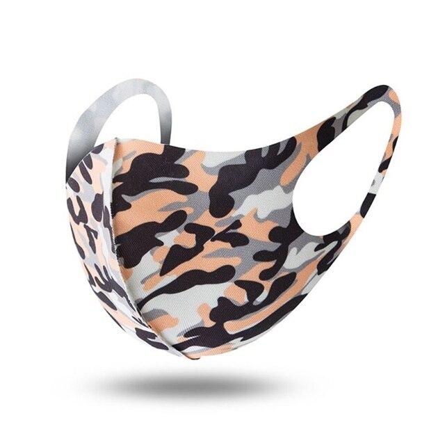 1PCS Unisex Washable Reusable Anti-dust Mouth Face Masks Camouflage Sponge Mask Anti Cold Mask Humanized Design