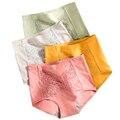 Размера плюс 5XL 4 предмета в комплекте трусики с высокой талией для женщин Мягкий хлопоковое сексуальные нижнее белье, трусы, нижнее белье Body...