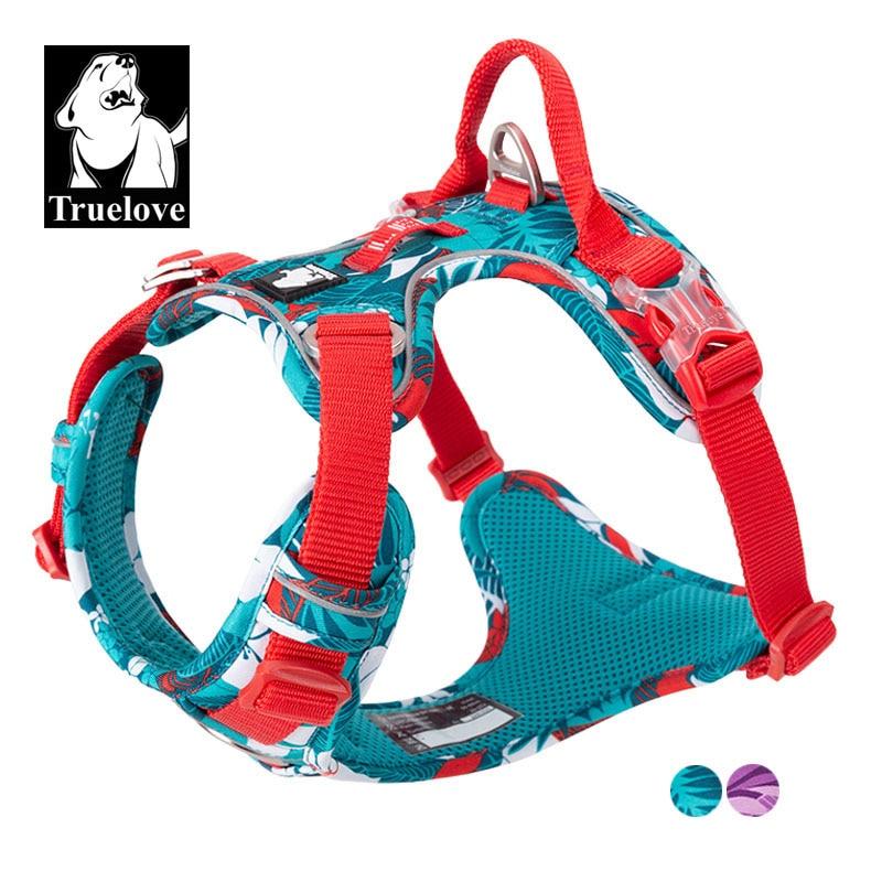Truelove No Pull Dog Harness Vest Nylon Reflective Soft Pet Harness Dog For Small Big Dogs Running Training Belt French Bulldog(China)