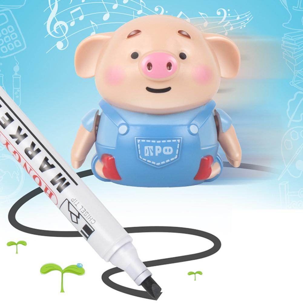 Electrict Pig Robot Induction Pen Remote Radio Vehicle With Light Music Educational Toy Improve Creativity Imagination