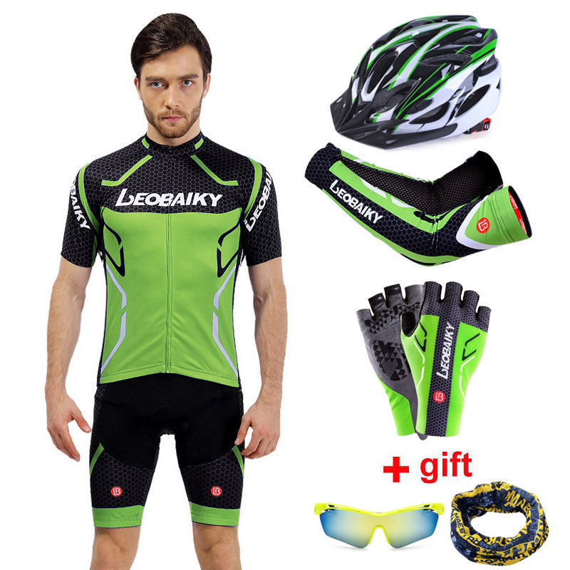 Cycling Clothing MTB Road <font><b>Bike</b></font> <font><b>Wear</b></font> Racing Clothes Quick Dry 2020 Pro Team Cycling Jersey Set Men Bicycle Helmet Gloves Sleeves image