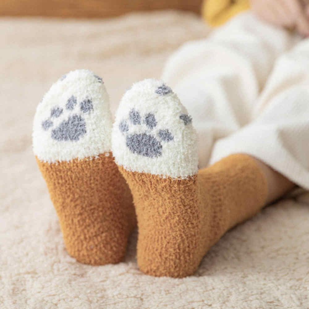 Kış pamuk peluş mercan polar kadın basit çorap moda sanat Fold kadın öğrenci kalın sıcak tutan çoraplar parlak metalik çizgi çorap
