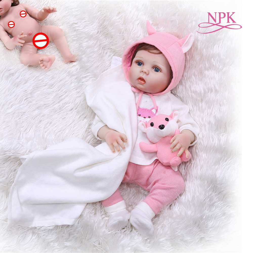 48CM Reborn Premie Doll Reborn Baby Full Body Soft Silicone Lifelike Baby Doll Bath Toy Anatomically Correct Christmas Gift