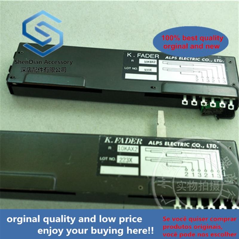 1pcs 100% New And Orginal Original K. Fader 10kbx2 10kax2 130mm Sliding Push Double Potentiometer 10K
