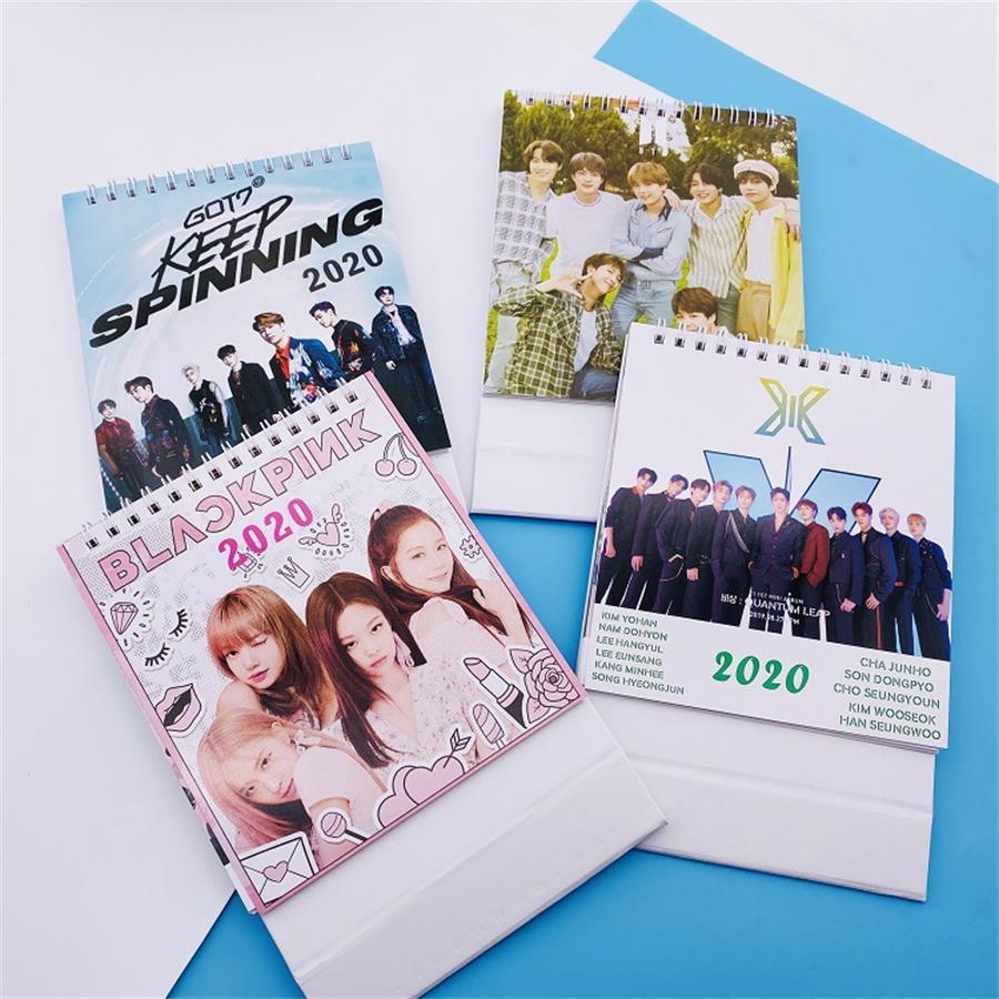 Kpop GOT7 Blackpink Yearly Agenda Cute 2020 Desktop Calendar Gift X1 Photo Picture