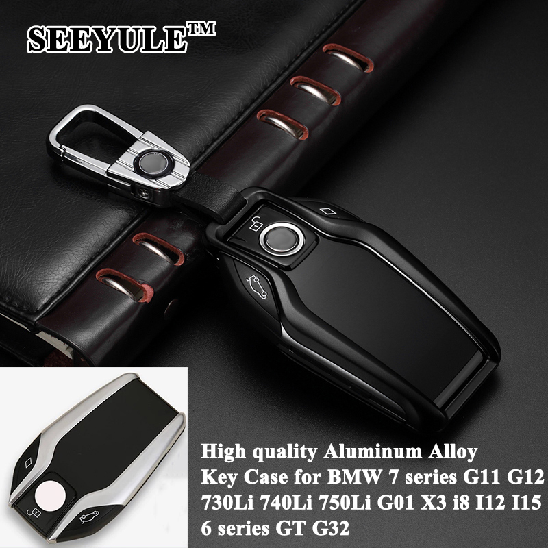 1pc SEEYULE Car LED Display Key Case Cover Shell Accessories for BMW 5 7 series G11 G12 G30 G31 G32 X3 G01 X4 X5 G05 i8 I12 I15