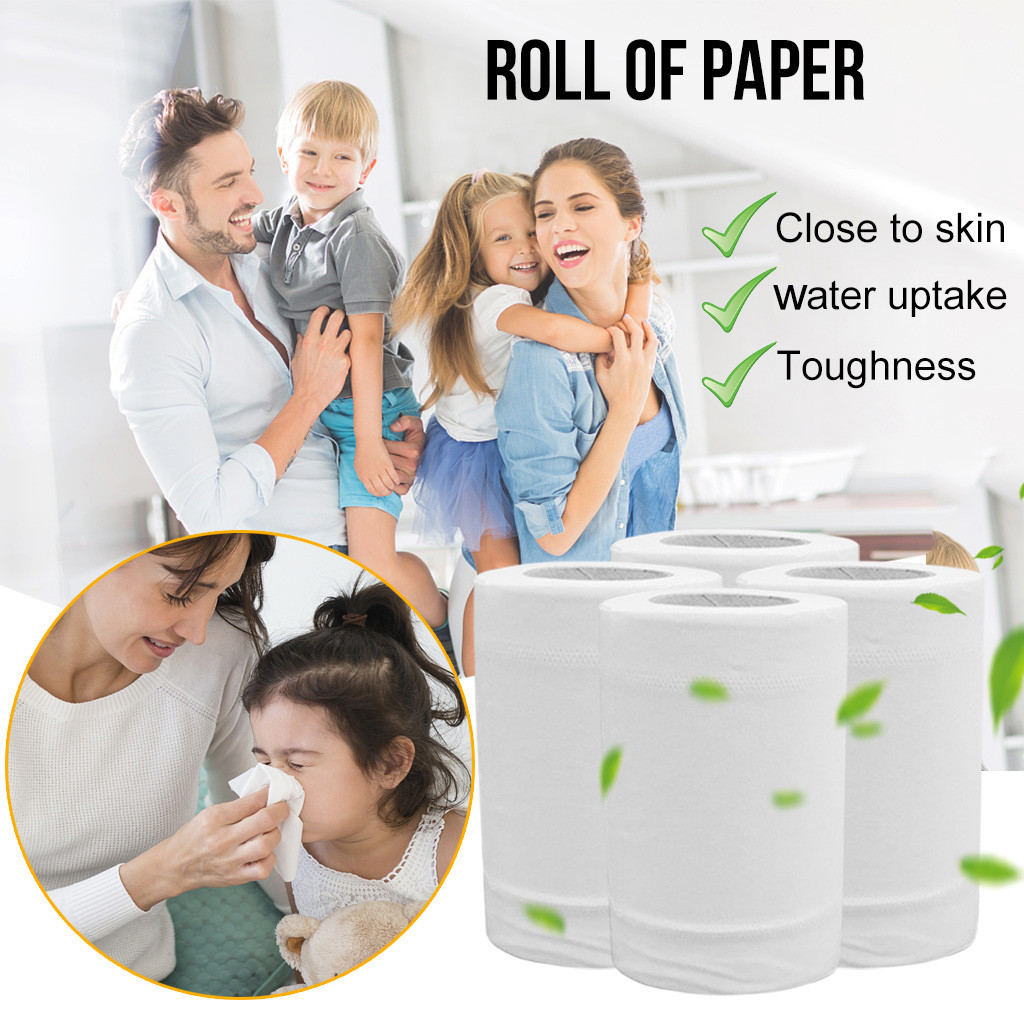 Three-Layer Paper Towels Soft Paper Towels With Fast-Drying Absorbency Paper Toilet Paper Tissue Bathroom Supplies Gift