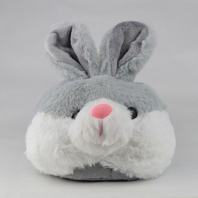pantoufles lapin grise 3