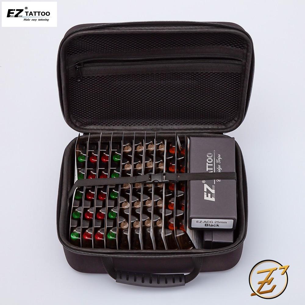 100Pcs EZ V-Select Cartridge Tattoo Needle Kits RL RS M1 CM Mixed Size Tattoo Needles With 2pcs Tattoo Grips Tattoo Kits Supply