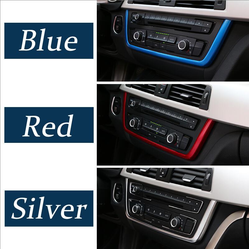 Panel de control de perlas cromado para coche accesorios decorativos para BMW Serie 3 4 3GT F30 F31 F32 F34 f36 2013-2019