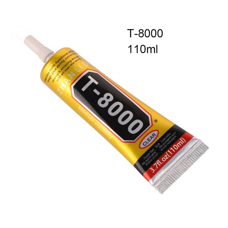 T8000 Glue Clear Crystal Wood For Rhinestones Resin Glass 15ml Woodworking Epoxy Glue Pot Flower DIY Fabric Adhesive