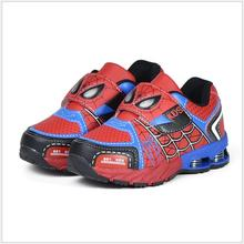 Fashion Spiderman Sports Sneakers Boys Casual School Shoes Big Children Kids Running For Size 26-37
